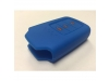 Blue With Orange Lettering 3 Button Smart Key Cover