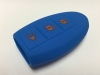 Blue 3 Button Intelligent Key Fob Cover