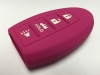 Pink 4 Button Intelligent Key Fob Cover