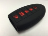 Black With Red Lettering 5 Button Intelligent Key Fob Cover