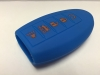 Blue 5 Button Intelligent Key Fob Cover