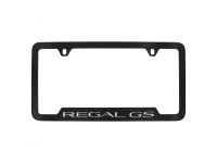 Black License Plate Frame with Silver Regal GS Logo