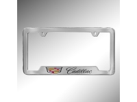 Cadillac Crest with Cadillac Script License Plate Holder