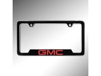 Red GMC Logo License Plate Holder