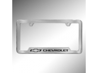 Black Bowtie Logo and Chevrolet Logo License Plate Holder