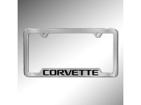 Corvette Logo License Plate Holder