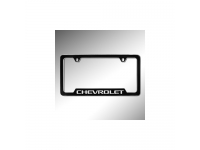Black License Plate Frame Kit with Chrome Chevrolet Logo