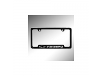 Black License Plate Frame Kit with Chrome Bowtie Logo/Performance Logo