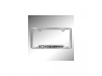 Black Bowtie Logo and Colorado Logo License Plate Holder