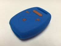 Blue With Orange Lettering 3 Button Fob Cover
