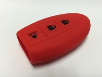 Red 3 Button Intelligent Key Fob Cover