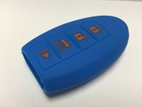 Blue 4 Button Intelligent Key Fob Cover