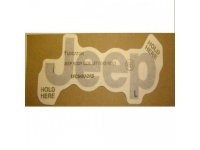 Light Silver Jeep Decal