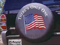 American Flag Logo Spare Tire Cover