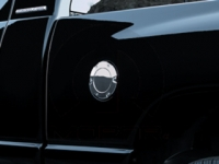 Chrome Aluminum One Piece Fuel Filler Door