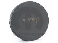 Black Jeep Logo Black Spare Tire Cover
