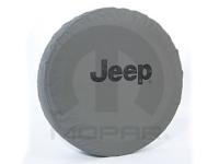 Black Jeep Logo Khaki Spare Tire Cover