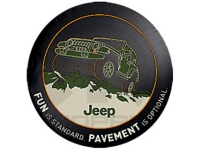 Fun Is Standard Pavement Is Optional Spare Tire Cover