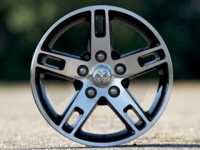 18 Inch Black/Chrome 5 Spoke Wheel