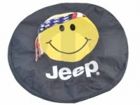 Smiley Face with American Flag Bandana Spare Tire Cover