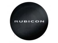 Rubicon Logo Black Spare Tire Cover