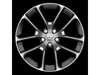 18 Inch Forged Polished Face with Black Painted Pockets Wheel