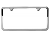 Bright Polished Slim Edge License Plate Frame