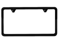 Satin Black Slim Edge License Plate Frame