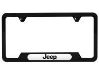 Jeep Logo Satin Black License Plate Frame