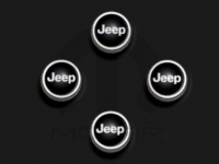 Jeep Logo Valve Stem Caps