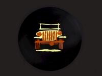 Cartooned Wrangler Logo Spare Tire Cover