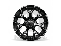 18 Inch Cast Aluminum Painted Gloss Black Wheel