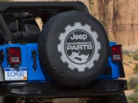 Jeep Performance Parts Logo Cloth Spare Tire Cover