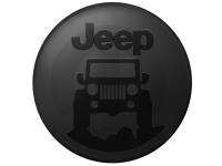 Jeep On The Rocks Logo Hard Shell Tire Cover