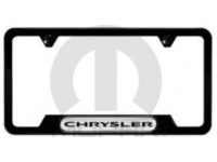 Black Chrysler Logo License Plate Frame