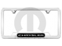 Polished Chrysler Logo License Plate Frame