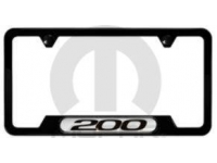 Black 200 Logo License Plate Frame