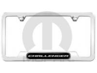 Polished Challenger Logo License Plate Frame