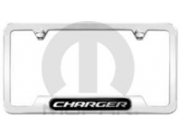 Polished Charger Logo License Plate Frame