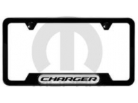 Satin Black Charger Logo License Plate Frame