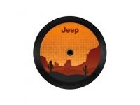 Desert Themed Logo Cloth Spare Tire Cover