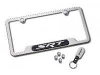 SRT Logo Polished License Plate Frame Set