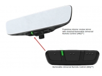 Frameless Mirror with Universal Remote Control