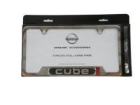 Chrome Cube Logo License Plate Frame