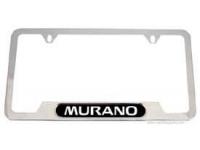 Murano Logo Chrome License Plate Frame