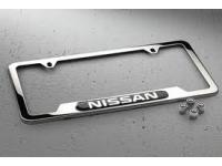 Nissan Chrome License Plate Frame and Valve Stem Caps Package