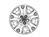 Police Package Gray Wheel Cover
