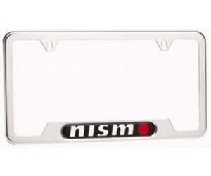 Polished Nismo License Plate Frame