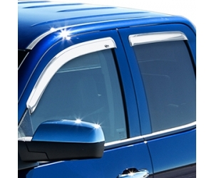 Chrome Side Window Deflectors
