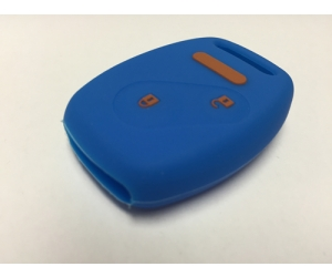 Blue With Orange Lettering 2 Button Fob Cover